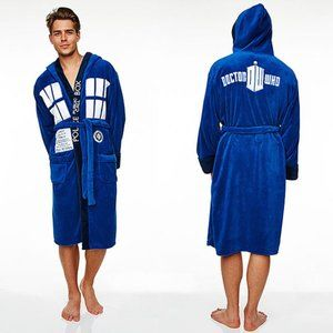 Doctor Who Thick Plush Hooded Tardis Robe